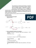 Desidratação Do Cicloexanol