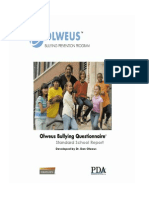 Olweus Sample Standard School Report
