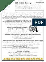 Newsletter, December, 2014