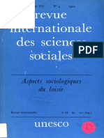 Revue Internationale Des Sciences Sociales n.4, 1960