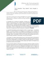 Nota de Prensa de Mª.Carmen Dueñas.