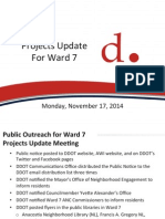 Presentation - DDOT Projects Update for the Ward 7 Community