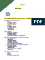 INDICE MECANISMOS DE EXTINCIÓN Y AGENTES EXTINTORES