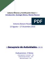 Labores Mineras y Fortificación Clase 1 – Introducción (1)