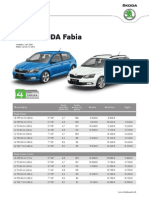 Škoda Fabia - Cenník November 2014