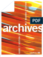 Guide Gestion Archives