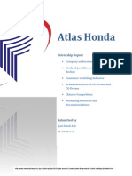 Atlas Honda-Internship Report 2014 by Qazi Zohaib Aqil