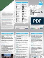 #bom15 Best of Mobile Awards 2015 - Ausschreibung