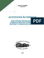 Activitatea in Farmacie-caiet Practica