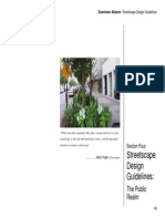 Downtown Streetscape Design Guidelines-public,Private