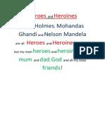 Heroes and Heroines Poem