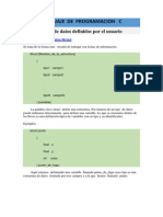 Lenguaje de Programacion C  Tipos-datos-user