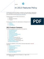 SharePoint 2013 Features Policy 20131007