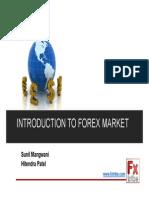 Sunil Mangwani - Into to FX Market