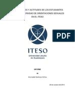 PERCEPCIONES Y ACTITUDES DE LOS ESTUDIANTES SOBRE LA DIVERSIDAD DE ORIENTACIONES SEXUALES EN EL ITESO