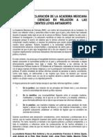 Declaracion Amc Leyes Antiaborto 05-01-10