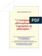Durkheim.enseignement.agregation.philosophie