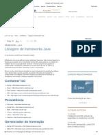 Listagem de Frameworks Java