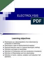 Electrolysis. Olevel Chemistry