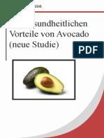 Die Gesundheitlichen Vorteile Von Avocado (Neue Studie)