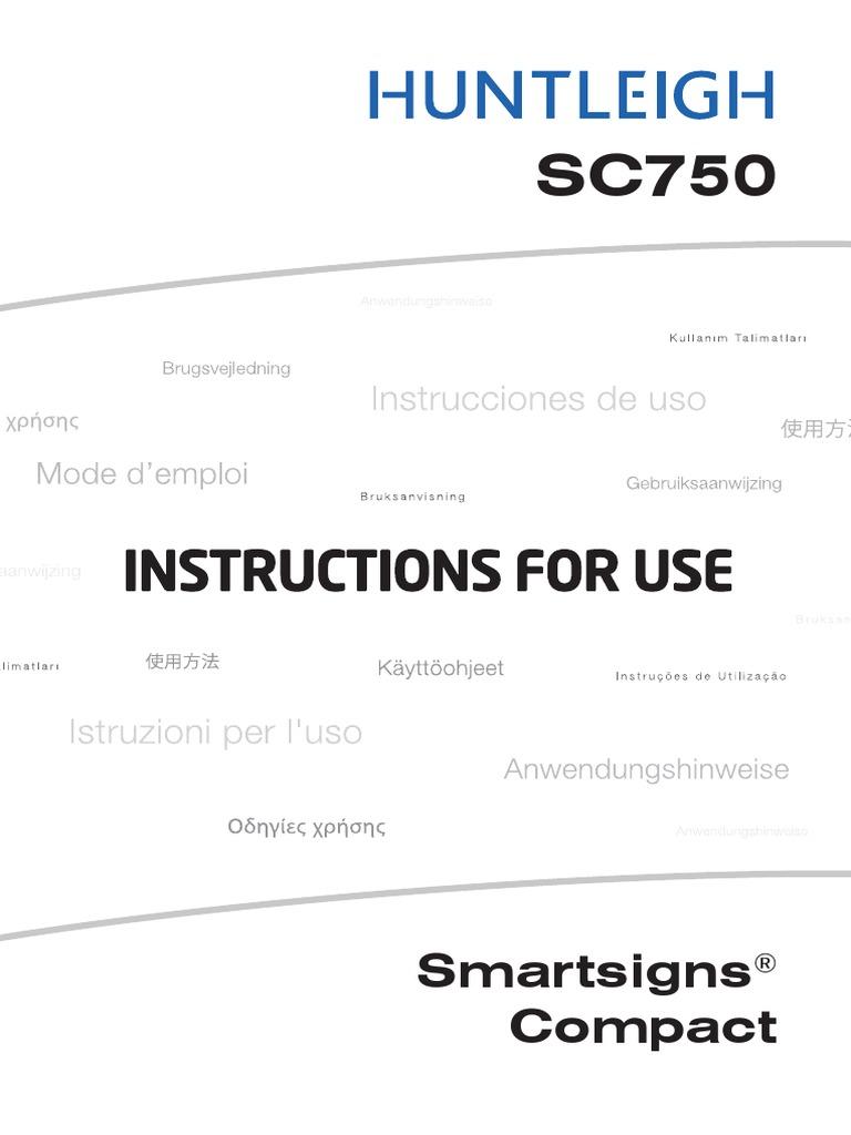 Manual de Usuario Monitor de Signos Huntleigh SC750