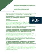 Ley Venezolana de Proteccion Civil y Administracion de Desatres