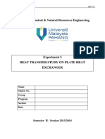 Exp. 5 Heat Transfer Study on Plate Heat Exchanger