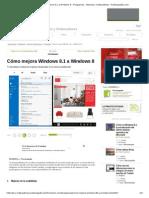 Cómo Mejora Windows 8.1 a Windows 8 - Programas