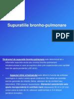 Supuratiile bronhopulmonare