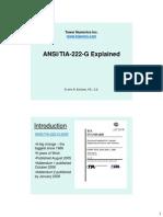TIA 222 G Explained