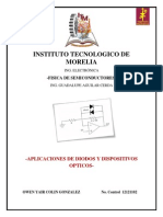 Aplicaciones de Diodos y Dispositivos Opticos