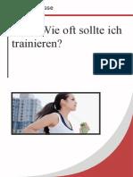 FAQ Wie Oft Sollte Ich Trainieren