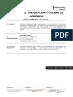 EC.01.PE.003 Preparacion y Colado de Hormigon