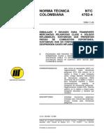 NTC 4702-4 Embalajes y Envases Transporte Mercancías Peligrosas Clase 4.pdf