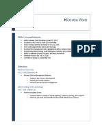 Kristin Watt Resume