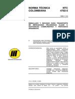 NTC 4702-5 Embalajes y Envases Transporte de Mercancías Peligrosas Clase 5.pdf