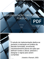 A Implementação Das Políticas Públicas - Copy