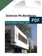 Sciences Po Bordeaux Information Sheet 2013 2014