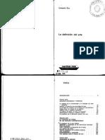 Eco, Umberto - La Definición Del Arte [PDF]