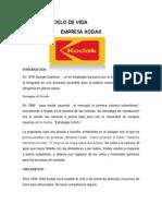 Etapas Del Ciclo de Vida Empresa Kodak