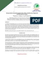 Interpretation of Ground Magnetic Data of Ilesa, Southwestern Nigeria for Potential Mineral Targets