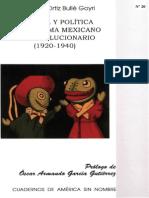 CULTURa y Politica en El Drama Mexicano Postrevolucionario