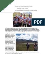 Race Report 2014 Adventure Race World Championships in Ecuador