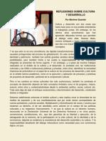 Reflexiones Sobre Cultura y Desarrollo Marlene Guamán