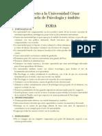 FODA Respecto a La Universidad César Vallejo