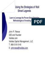 Reese_Invest Using the Strategies of Wall Street Legends