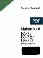 Service Manual Nakamichi Pa7ii Pa7aii Pa7eii
