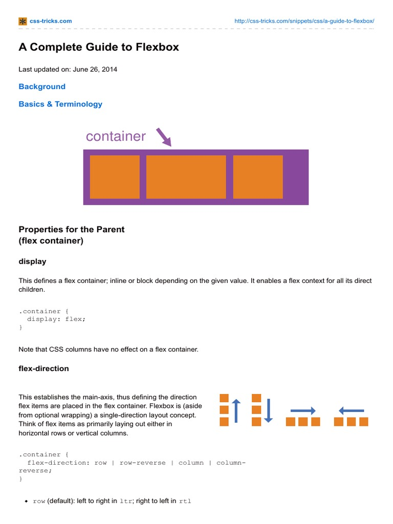 Css-tricks com-A Complete Guide to Flexbox   Web Browser