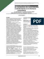Cuestionario de Conocimientos en Hipercolesterolemia