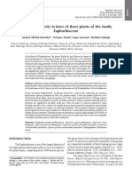 Proteinase Activity in Latex of Three Plants of the Family Euphorbiaceae